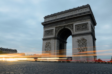 Arc de Triomphe - trailing lights