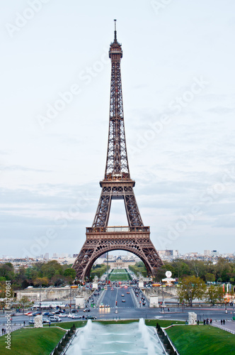 Eiffel tower in evening time