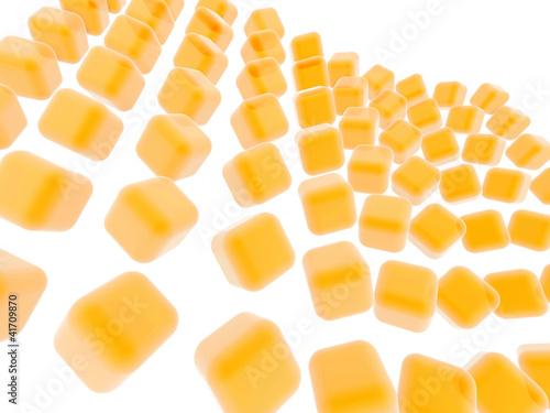 fundo de cubos laranja