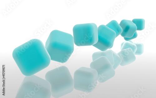 Cubos ciano - cian cubes