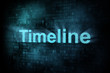 Timeline concept: pixeled word Timeline on digital screen