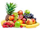 Fototapety Fruit on a white background