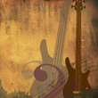 Vintage grunge  guitars background