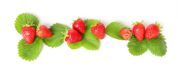 TOP strawberry isolated