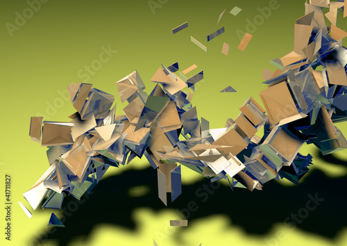 geometry explosion abstract background pattern