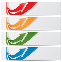 vector website banners, business success concept