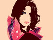 Fashion Woman Portrait-Vector Illustration