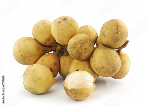 Lanzones fruit isolated on white background