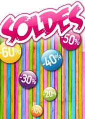SOLDES Multicolores