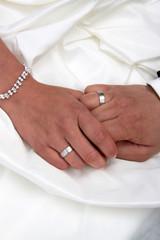 Hände und Eheringe