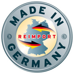 re-import made in germany stempel icon siegel