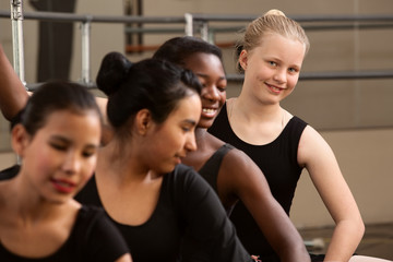 Cute Group of Ballet Students