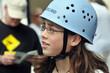 Mädchen mit Helm