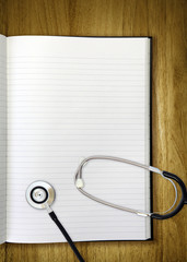 stethoscope notepad