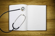 blank book stethoscope