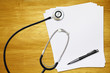stethoscope blank paper