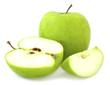 Green apple and cut segments