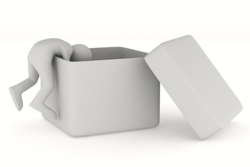 Open box on white background. Isolated 3D image