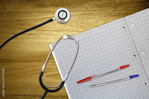 above desk stethoscope
