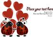 Beautiful card with ladybugs