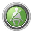 """Green 3D Style Button """"Seat Belt"""""""
