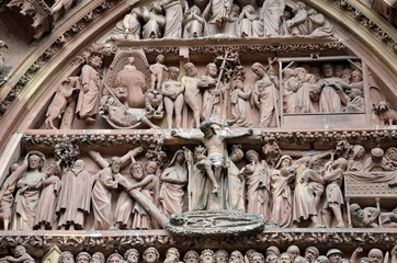 Detail of Strasbourg Cathedral Main Entrance