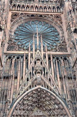 Detail of Strasbourg Cathedral Facade
