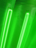 abstract green bulb lamp, energy saving technology details