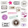 hipster party stamps
