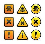 Hazard warning symbols, set