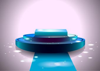 Shiny blue stage