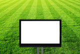 fussballfeld mit  tv