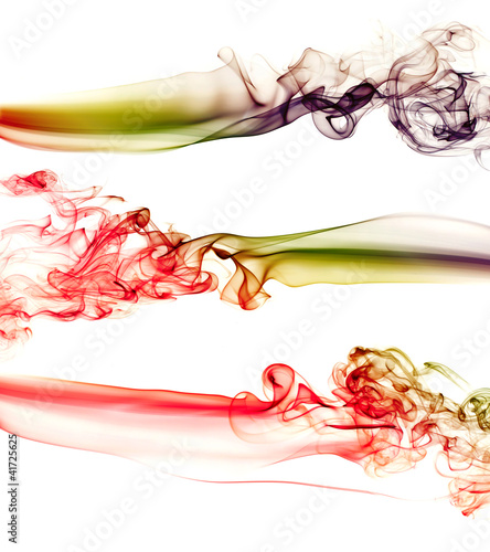 Abstract colourful bakground made with real smoke