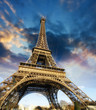 Beautiful photo of the Eiffel tower in Paris with gorgeous sky c - 41726079