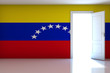 Venezuela flag on empty room