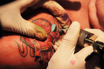 Making of tattoo