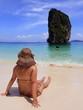 Women in poda island in Thailand
