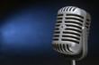 retro microphone with spotlight
