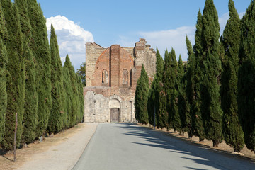 Alley near the Abbey of San Galgano