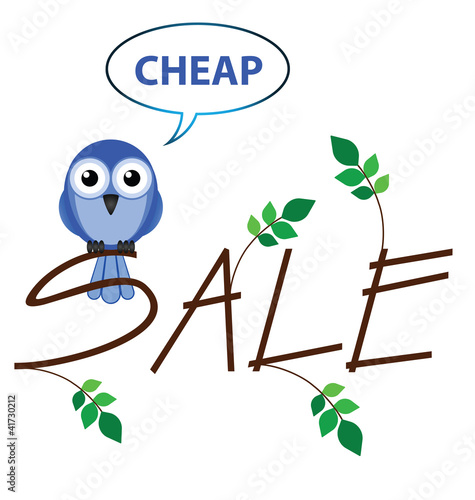 Cheap sale twig text isolated on white background