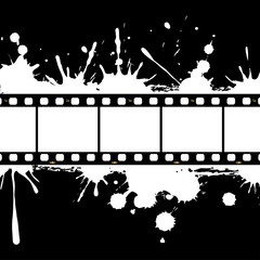 Filmstrip background frame