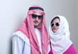 luxurious arabian couple posing