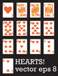 Hearts! Vector eps 8