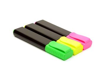 Three colored marker.