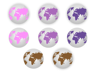 Earth,Map,Globe - Pink, Violet, Magenta, Brown