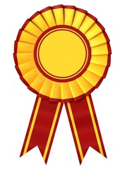 Yellow Ribbon award with a red border