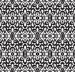 Seamless black lace pattern on white