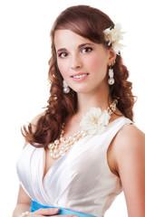 Happy bride portrait