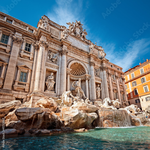 Trevi Fountain (Fontana di Trevi) in Rome - Italy - 41733867
