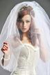 Beauty women in white dress